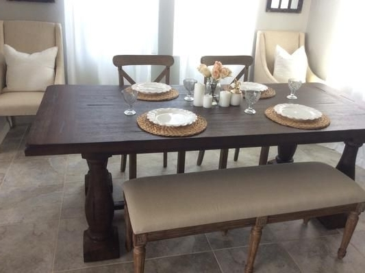 Fashionable Market Dining Tables In World Market Greyson Dining Table, Target Chairs, Overstock Bench (View 8 of 20)
