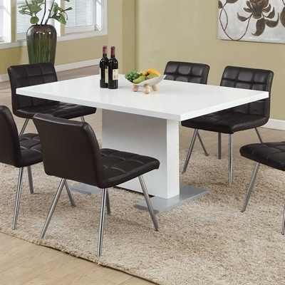 Fashionable Monarch Specialties I 1090 High Gloss Dining Table (View 6 of 20)