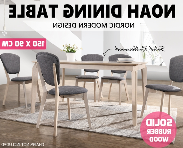 Fashionable Noah Designer Dining Table 150X90 Cm 6 Seater Scandinavian Solid Throughout Noah Dining Tables (View 6 of 20)