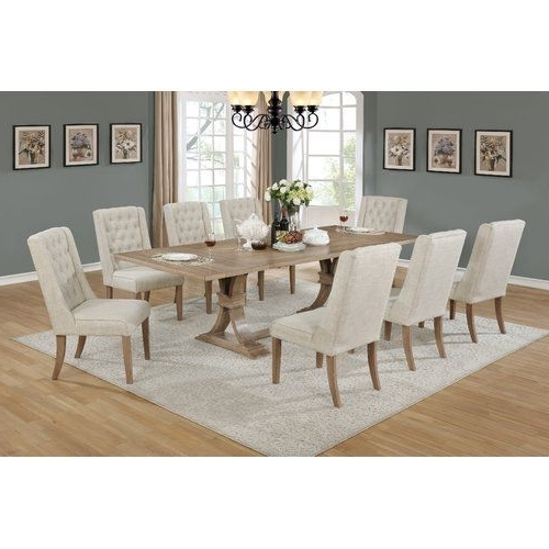 Fashionable Partridge 7 Piece Dining Sets Pertaining To Denville 9 Piece Dining Set (View 8 of 20)