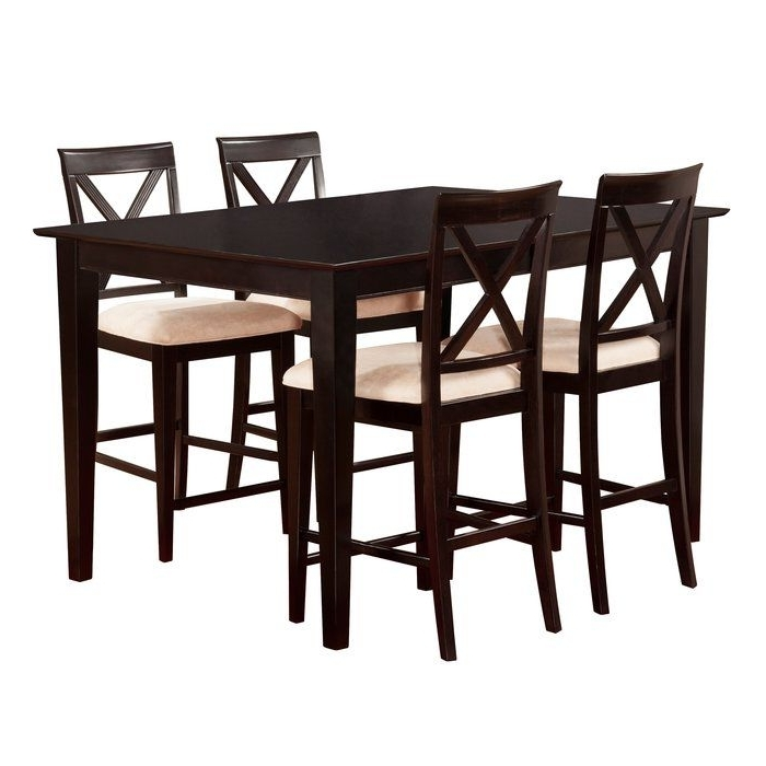 Fashionable Pierce 5 Piece Counter Sets Within Crestwood 5 Piece Counter Height Dining Set (View 3 of 20)