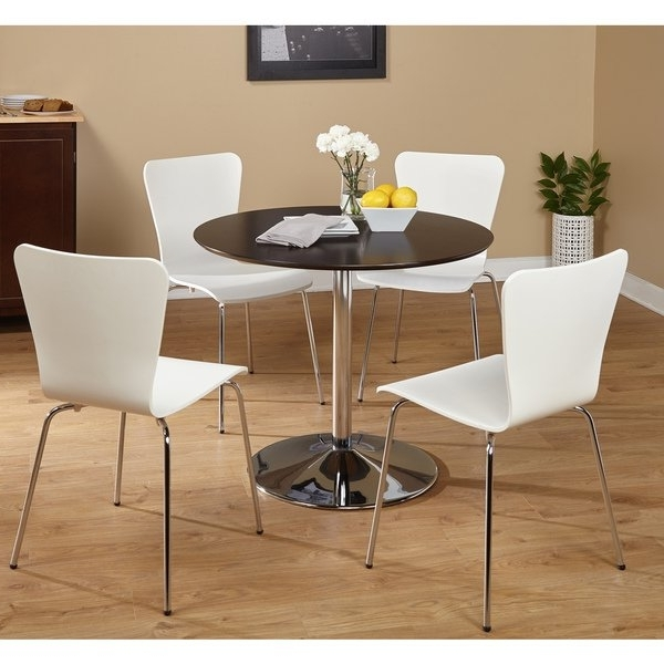 Fashionable Pisa Dining Tables Intended For Shop Five Piece Pisa Dining Set – Free Shipping Today – Overstock (View 7 of 20)
