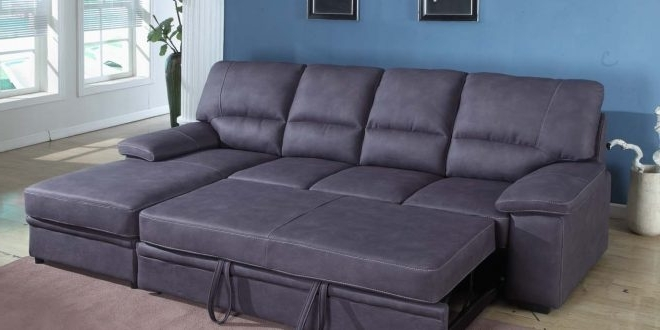 Fashionable Seating Furniture – Sleeper Sectional Sofa – Pickndecor Inside Lucy Dark Grey 2 Piece Sleeper Sectionals With Raf Chaise (View 4 of 15)