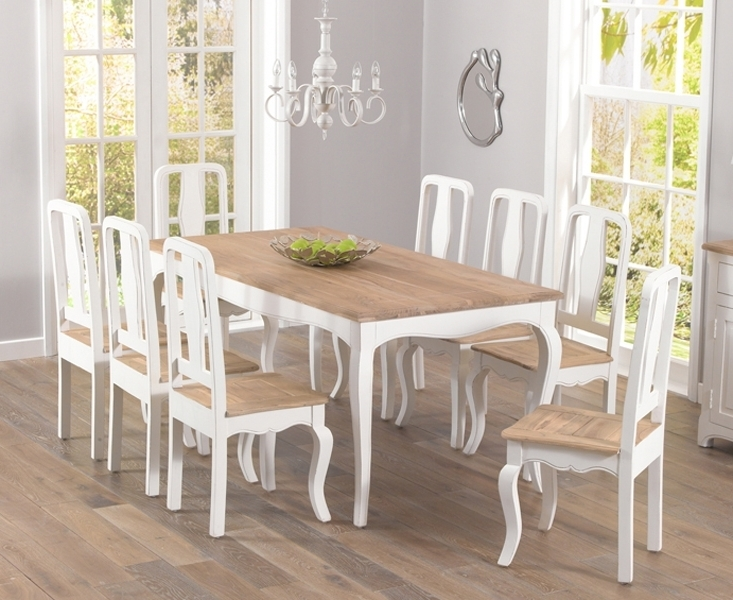Fashionable Shabby Chic Dining Chairs With Regard To Walcott Shabby Chic 175Cm Dining Set With 4 Chairs (View 2 of 20)