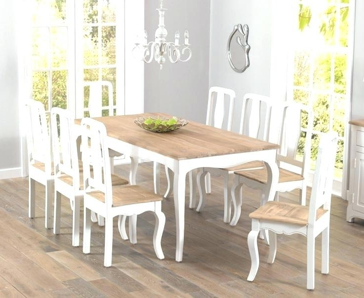 Fashionable Shabby Chic Dining Room Table And Chairs Shabby Chic Country With Regard To French Chic Dining Tables (View 5 of 20)