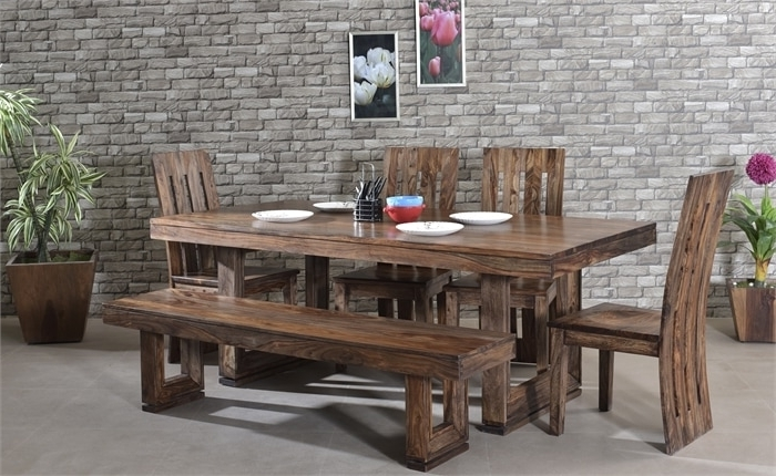 Fashionable Sheesham Wood Dining Tables Regarding Best 5 Affordable Sheesham Wood Dining Tables Designs For All Types (View 4 of 20)