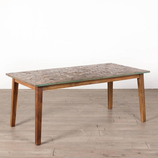 Fashionable Shop Cg Sparks Handmade Parquet 6' Dining Table (India) – Free For Parquet 6 Piece Dining Sets (View 3 of 20)