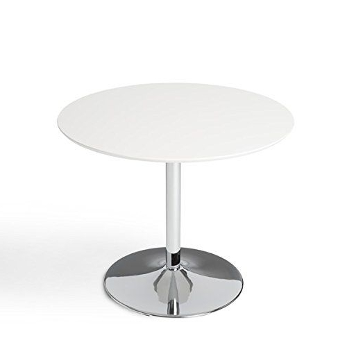 Fashionable Simple Living White Chrome Metal Stand Single Pisa Dining Table Regarding Pisa Dining Tables (View 8 of 20)