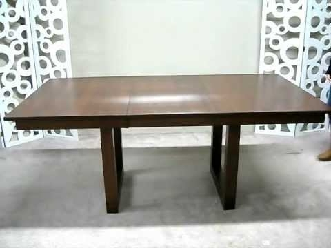 Fashionable Teagan Extension Dining Tables Within Solid Wood Dining Table With Self Storing Leaf – Youtube (View 20 of 20)