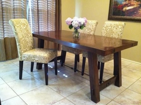 Fashionable The Real Pottery Barn Benchwright Farm House Dining Table (View 3 of 20)