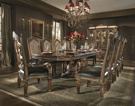 Fashionable Valencia 5 Piece Round Dining Sets With Uph Seat Side Chairs Within Aico Villa Valencia Rectangular Extendable Dining Room Set – Villa (View 9 of 20)