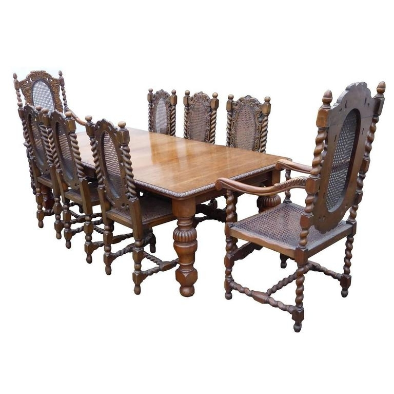 Fashionable Victorian Solid Oak Dining Table And Eight Chairs At 1Stdibs With Regard To Dining Tables For Eight (View 9 of 20)