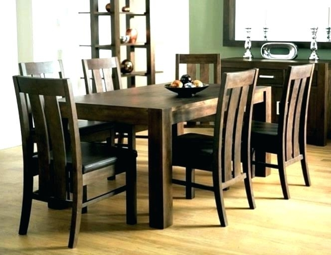 Fashionable Walnut Dining Tables And 6 Chairs With Regard To Round 6 Seater Dining Table 6 Seat Table Round 6 Seat Dining Table  (View 6 of 20)