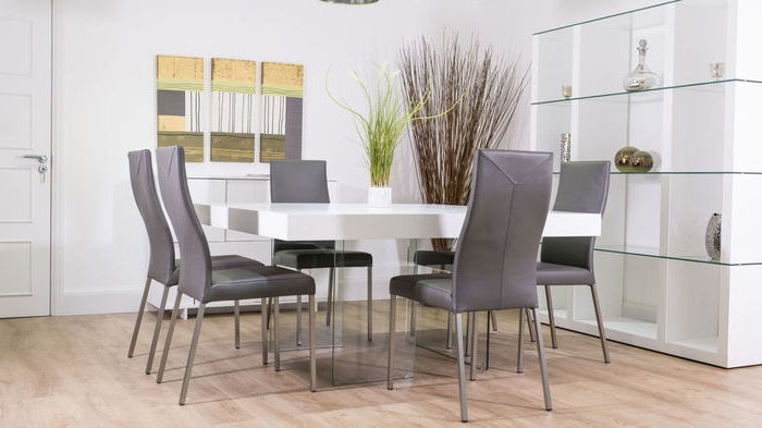 Fashionable White Dining Tables 8 Seater Intended For  (View 6 of 20)