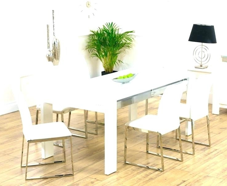 Fashionable White Dining Tables With 6 Chairs Throughout 6 Chair Dining Table Set Room Glass Kitchen And Chairs White Sets (View 19 of 20)