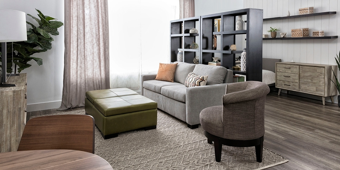 Fashionable Wood Modern Small Space With Mackenzie Sofa Sleeper (View 10 of 20)