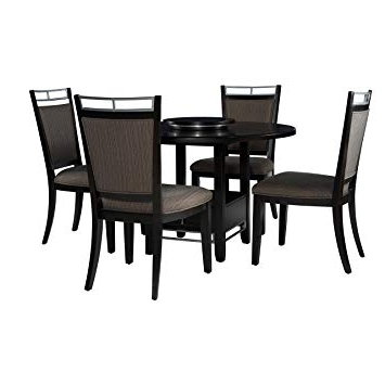 Favorite Amazon – Powell Caden 5Pc Dining Set – Table & Chair Sets Pertaining To Caden Round Dining Tables (View 7 of 20)