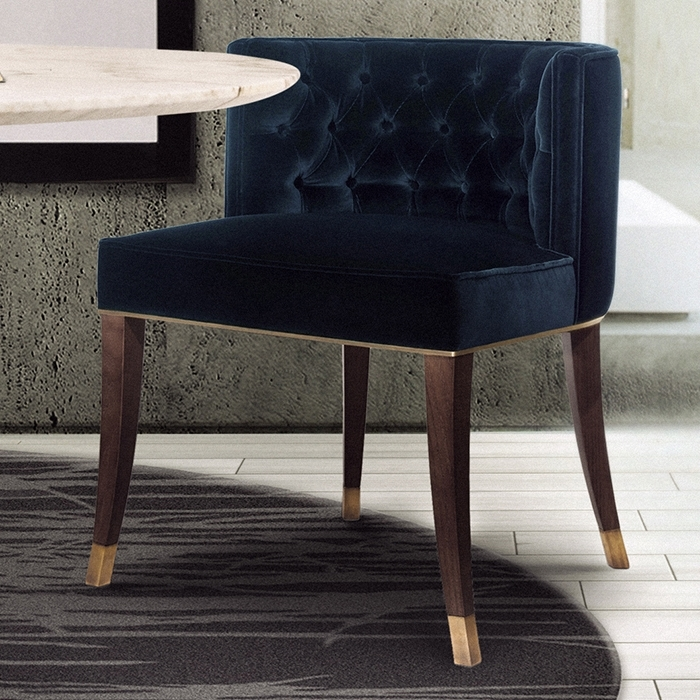 Favorite Bourbon Velvet Dining Chair – Robson Furniture In Velvet Dining Chairs (View 7 of 20)