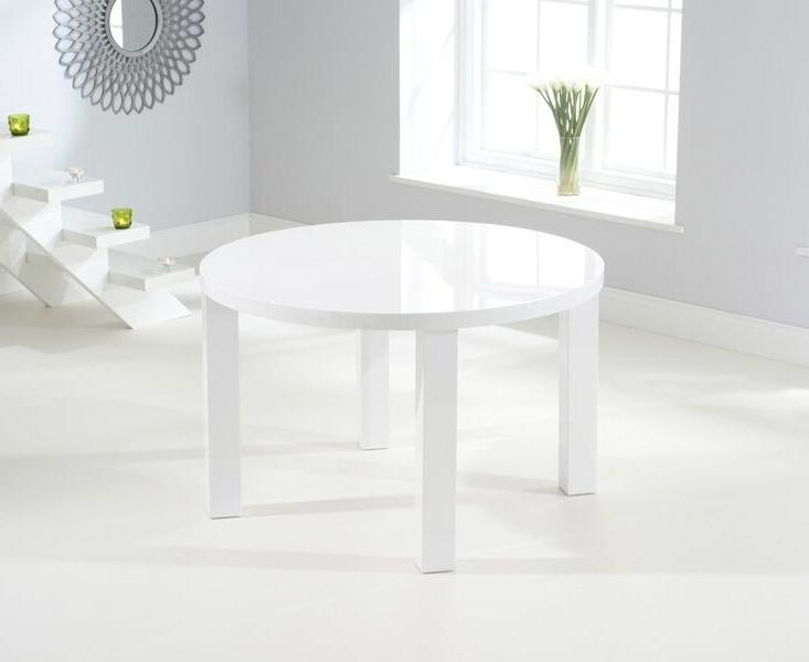 Favorite Buy Nikita Round White Gloss Dining Table 120Cm Pertaining To White Gloss Dining Tables 120Cm (View 1 of 20)