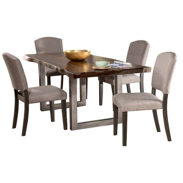 Favorite Caden 6 Piece Rectangle Dining Sets Intended For Hillsdale Furniture Emerson Grey Sheesham 5 Piece Rectangular Dining (View 18 of 20)