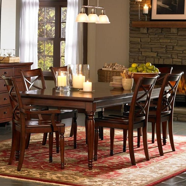 Favorite Cambridge Dining Tables In Aspenhome Cambridge 7 Piece Rectangular Leg Dining Table & Chair Set (View 10 of 20)