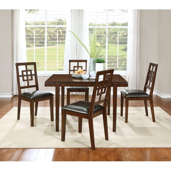 Favorite Candice Ii 7 Piece Extension Rectangular Dining Sets With Slat Back Side Chairs Regarding Boraam Cherry Dining Set (View 7 of 20)