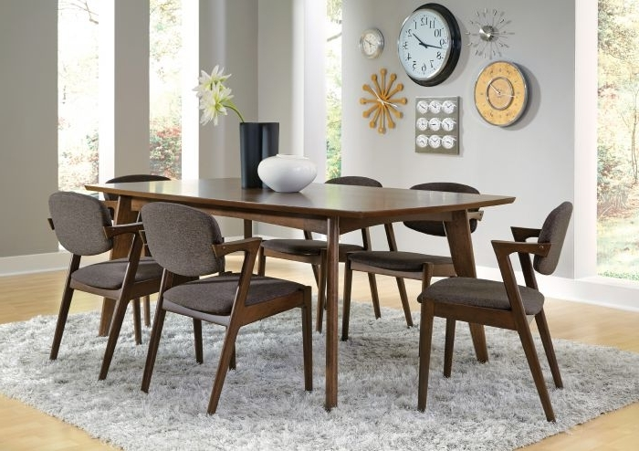 Favorite Coaster 105351 Malone 7 Piece Walnut Dining Set Throughout Walnut Dining Table Sets (View 7 of 20)