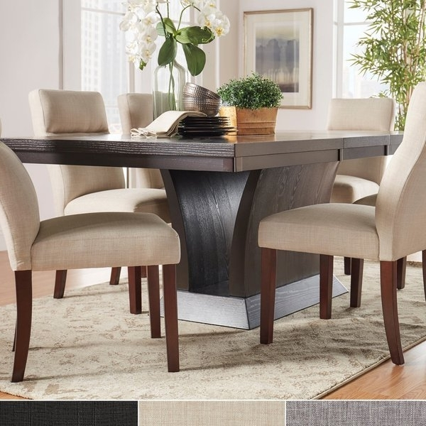Favorite Craftsman 7 Piece Rectangular Extension Dining Sets With Arm & Uph Side Chairs Regarding Shop Charles Espresso Contemporary Dining Setinspire Q Modern (View 9 of 20)