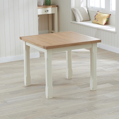 Favorite Cream And Oak Dining Tables Within Sandiego Oak And Cream 90Cm Extending Dining Table – Robson Furniture (View 8 of 20)