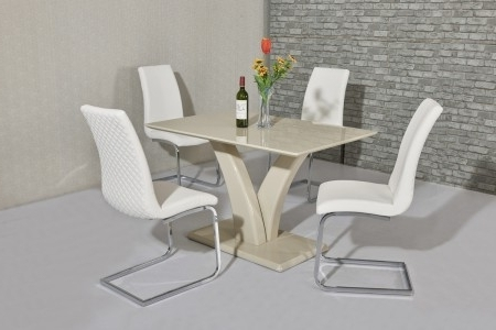Favorite Cream High Gloss Dining Tables In Wow Slim High Gloss Cream120 Cm Dining Table (View 17 of 20)