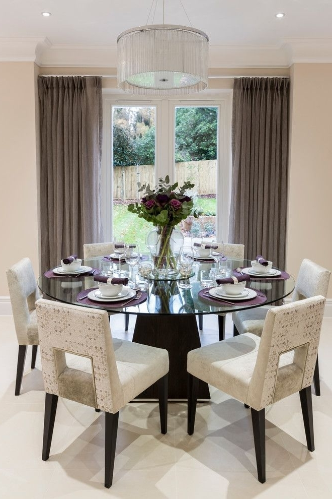 Favorite Decorative Dining Room Transitional Design Ideas For French Round Inside Lindy Espresso Rectangle Dining Tables (View 11 of 20)