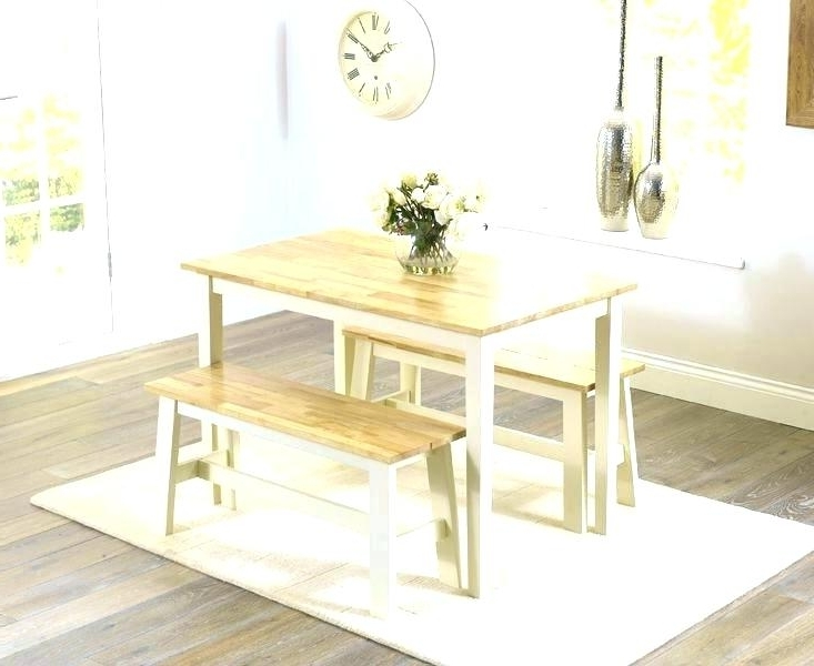 Favorite Dining Table Chairs And Bench Set Small Kitchen Table With Bench For Small Dining Tables And Bench Sets (View 5 of 20)