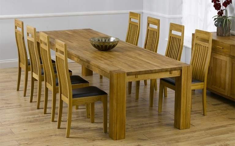 Favorite Eight Seater Dining Tables And Chairs With Oak Dining Table Sets (View 11 of 20)