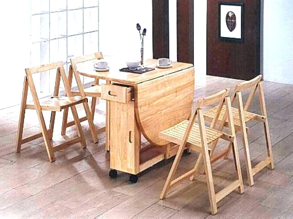 Favorite Foldaway Dining Tables For Folding Dining Table Set – Melaninaudio (View 2 of 20)