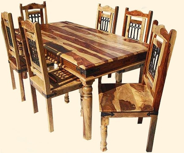 Favorite Indian Dining Tables And Chairs With Indian Dining Table Beautiful Indian Sheesham Dining Table And (View 8 of 20)