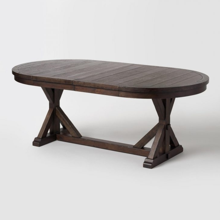 Favorite Jaxon Extension Rectangle Dining Tables Pertaining To Furniture: Extension Table Inspirational Rustic Brown Oval Wood (View 4 of 20)