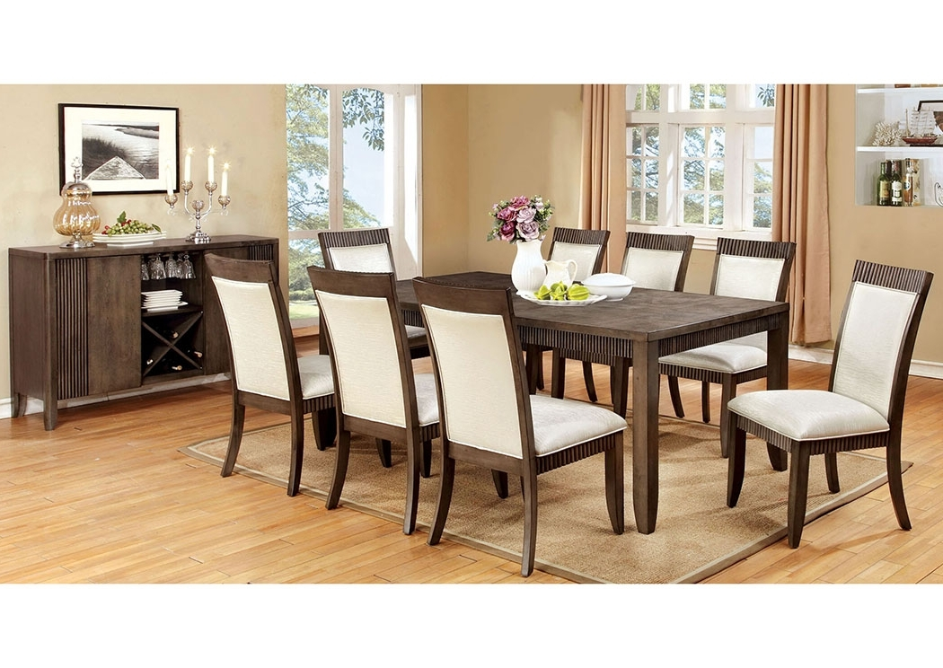 Favorite Justin's Furniture Company Forbes L Extension Dining Table W/6 Side Intended For Craftsman 7 Piece Rectangle Extension Dining Sets With Side Chairs (View 13 of 20)