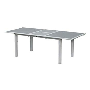 Favorite Lazio Dining Tables Throughout Lazio Dining Table Colour: Silver/grey/spraystone: Amazon.co (View 8 of 20)