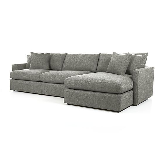 Favorite Lucy Dark Grey 2 Piece Sleeper Sectionals With Raf Chaise Throughout Lounge Ii 2 Piece Sectional Sofa (View 5 of 15)