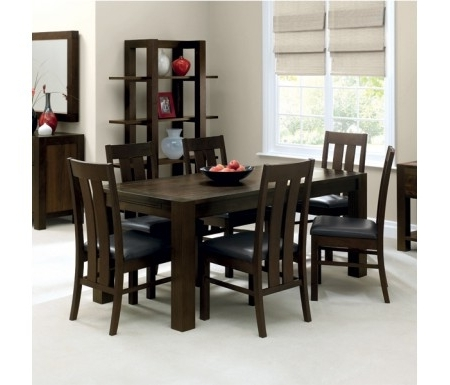 Favorite Lyon Dining Tables Within Bentley Designs Lyon Walnut Dining Set With Slatted Chairs (View 7 of 20)
