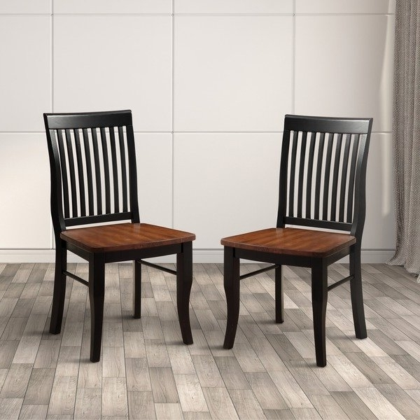 Favorite Nora Dining Tables With Regard To Shop Furniture Of America Nora Two Tone Solid Wood Slat Back Dining (View 2 of 20)