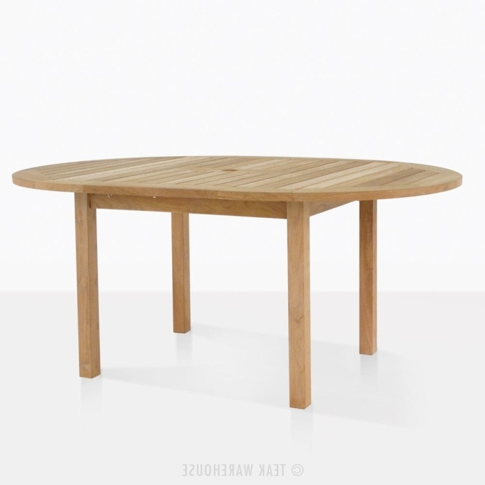 Favorite Nova Round Teak Extension Outdoor Dining Table (View 2 of 20)