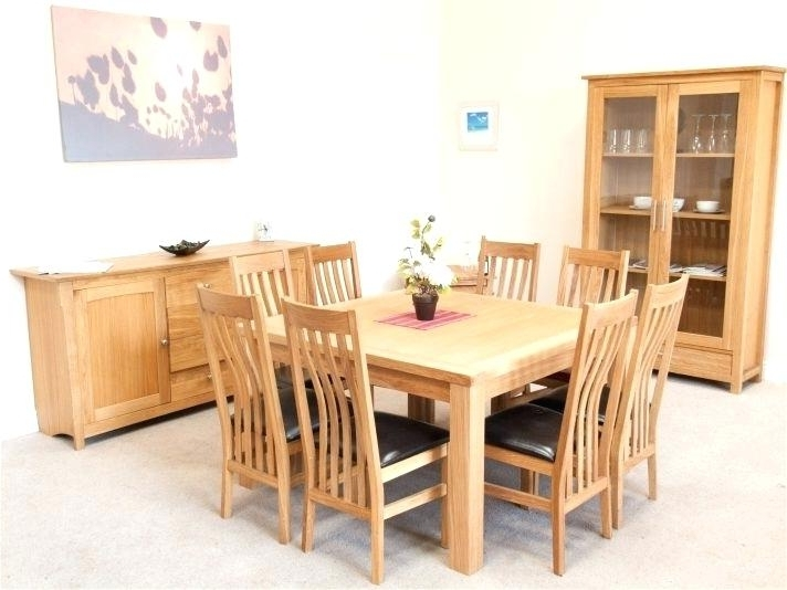 Favorite Oak Dining Tables And 8 Chairs For Square Dining Table For 8 – Te (View 13 of 20)