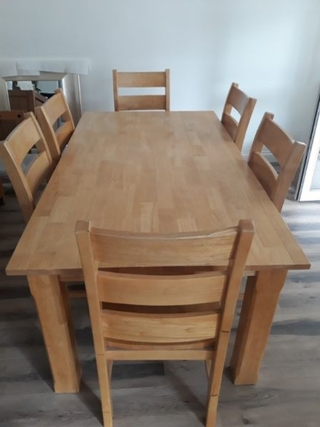 Favorite Oak Dining Tables With 6 Chairs Inside Solid Oak Dining Table 6 Chairs (View 5 of 20)