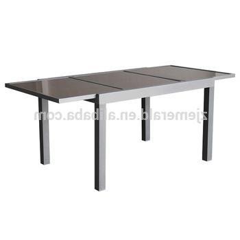 Favorite Outdoor Aluminum Patio Extendable Glass Dining Table – Buy In Outdoor Extendable Dining Tables (View 6 of 20)