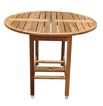 Favorite Oval Folding Dining Tables Pertaining To Amazon : Merry Garden Acacia Folding Dining Table : Folding (View 4 of 20)
