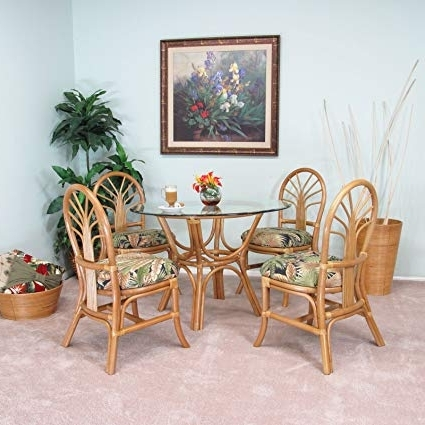 Favorite Rattan Dining Tables In Amazon – Premium Rattan Dining Furniture Sundance 5Pc Set Tommy (View 5 of 20)