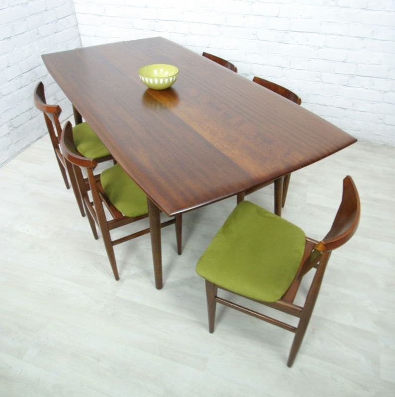 Favorite Retro Vintage Teak Mid Century Danish Style Dining Table Eames Era Regarding Retro Dining Tables (View 5 of 20)
