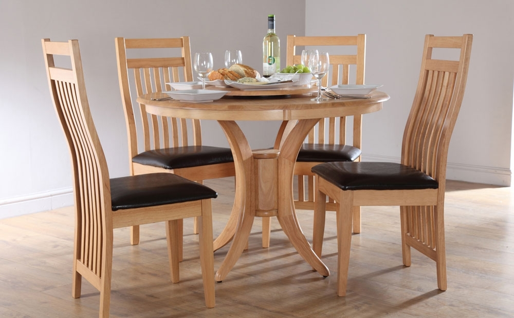 Favorite Round Dining Tables And Chairs Sets – Castrophotos Pertaining To Circular Dining Tables For  (View 10 of 20)