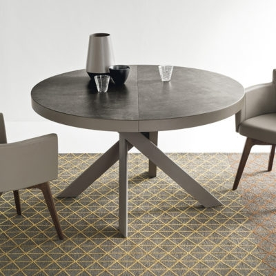 Favorite Round Extending Dining Tables With Regard To Calligaris Tivoli Round Extending Dining Table – Ceramic Top (View 4 of 20)